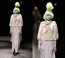 AD2009 Runway Comme Des Garcons Chiffon Trench Coat style Cape
