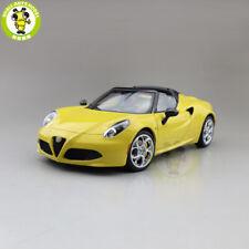 1/18 ALFA ROMEO 4C SPIDER Autoart 70143 Diecast Model Toys Car Gifts yELLOW