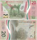 20 PESOS MEXICO UNCIRCULATED - NEW BILL- FREE SHIPPING TRACKING - SHIP FROM USA