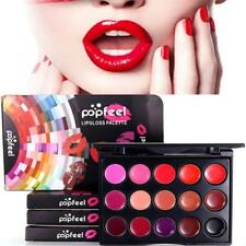 15Colors Moistening Lipstick Palette Moisturizing MultiColor Lip Gloss Plate NEW