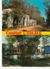 """CAP D'AGDE camping """"l'escale"""" multivues timbrée 1975"""