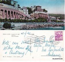 # CELLE LIGURE: LUNGOMARE - mini-cartolina  1961