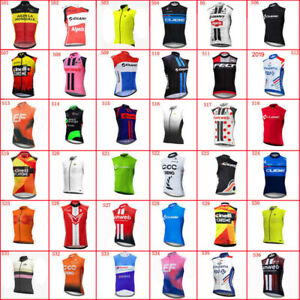 2021 Cycling Jersey Mens Summer New Bike Vest Sleeveless Shirt Bicycle Clothing