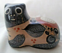 Vintage Mexican Folk Art - Tonala Clay Cat Figure