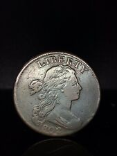 1803 US Draped Bust Large Cent Coin One Cent 1/100th
