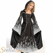 Girls Forgotten Souls Witch Ghost Halloween Horror Witch Fancy Dress Costume