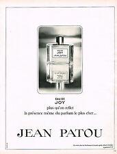 PUBLICITE ADVERTISING  1970   JEAN PATOU  parfum JOY