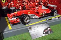 F1 FERRARI F2003 SCHUMACHER # 1 PIT STOP WORLD CHAMPION au 1/18 HOT WHEELS B1026
