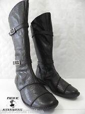 Bottes LUXAT NOXE marron FEMME cuir ville taille 38 boots black woman NEUF