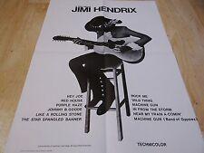 JIMI HENDRIX ! affiche 1974 rare