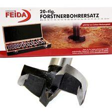 Forstnerbohrer Satz 20 teilig Holz Bohrer 6 bis 50mm inkl. Holzkassette 81202