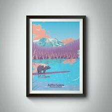 More details for joffre lakes provincial park travel poster - framed - bucket list prints