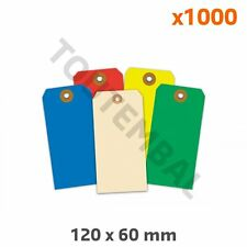 Etiquette américaine carton couleur verte 120 x 60 mm (par 1000)
