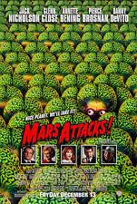 Mars Attacks Movie Poster 2 Sided Original 27x40 Tim Burton Jack Nicholson