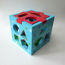 Hamleys  wooden cube shape sorter puzzle toy, age 18 months+