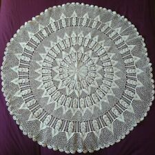 Large Hand Nitted Round Tablecloths Lace doily Table Cover Home Decoration White
