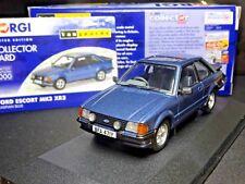 Wow extremadamente raro 1/43 Vanguards Ford Escort MK3 XR3 Caspio Azul nla