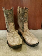 Wolverine Men's Boots 8 D Hunting Work Camouflage Insulated Pull Slip On