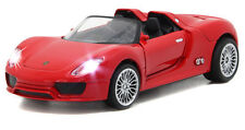1:32 Porsche 918 Alloy Sports Car Model  Kids Toy Vehicles Sound & Light RED