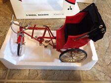 MINI BICYCLE DECORATIVE COLLECTIBLE 1:10 Scale Die cast, Plastic 3 Wheel Ricksha