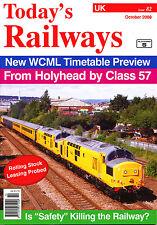 TODAY'S RAILWAYS UK 82 OCT 2008 West Coast Timetable,New Stations,Pendolino + 57