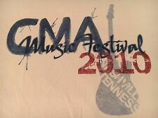 2010 CMA COUNTRY MUSIC FESTIVAL t shirt-NASHVILLE-official CHEVY promo-NEW-(XL)