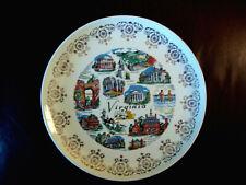 "Virginia USA Plate Historic Landmarks Gold filigree 9-1/8"""