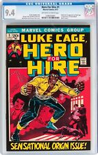 HERO FOR HIRE #1 CGC 9.4  FIRST APPEARANCE OF LUKE CAGE!  MARVEL JUNE 1972