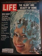Life Magazine Spring and a New Hat For Audrey Hepburn April 1962