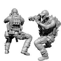 1/35 Resin Figure Model Kit Stalker Biochemical Soldier W9R7 Gas Unpain Mas X0D2