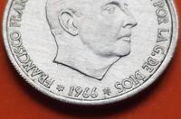 @ESTRELLA TRUCADA@ 50 Centimos 1966 19 75 moneda de aluminio 1975 ESTADO ESPAÑOL