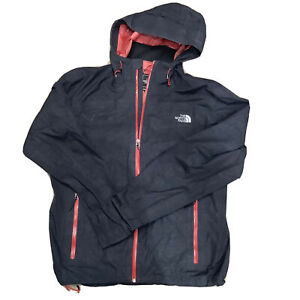 The North Face Mens Lightweight Hyvent Rain Coat Waterproof Jacket Black Red L