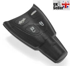 """SAAB 93 95 9-3 9-5 SMART FOB Case for 4 Button Remote Replacement """"WITH LOGO"""""""