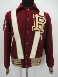 P5412 VTG 90's Men's Wool Letterman School Varsity Jacket