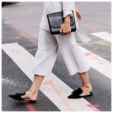 PRADA Black Velvet Satin Bow Mule Slide Slipper Sandal Shoes 6 US / 36 EU