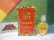 VINTAGE AMARIGE BY GIVENCHY EDT 0.13 OZ / 4 ML NEW IN BOX MINIATURE RARE