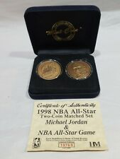 1998 Highland Mint MICHAEL JORDAN/ NBA All-Star Two-Coin Matched Set #1 of 1,000