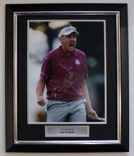 More details for ian poulter golf memorabilia signed autograph photo in premium frame
