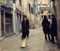 A Street in Venice John Singer Sargent Fine Art Giclee Print on CANVAS Small