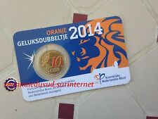 Coincard Officiel 10 Cent Euro Pays-Bas 2014 en Couleur
