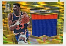 Patrick Ewing 2015-16 Panini SPECTRA Gold Prizm Jumbo 2 color GU Patch #'d 8/10