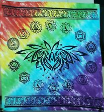 """36"""" x 36"""" Chakra Lotus Altar Cloth Wiccan Wicca Supplies"""