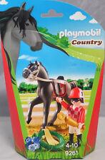 PLAYMOBIL 9261 Jockey Pferd Sattel Zaumzeug Pokal Blumen Kranz NEU