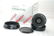 """TOP MINT in BOX"" Mamiya N 80mm f/4 L Lens For Mamiya 7 7II   #3289"