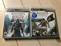 SEALED Assassin's Creed IV: Black Flag + Rogue Bundle Lot PLaystation 3 PS3 NEW