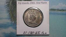 FIJI ISLANDS - 1965 FLORIN - COLONIAL ERA - PREDECIMAL COIN. Copper/Nickel.