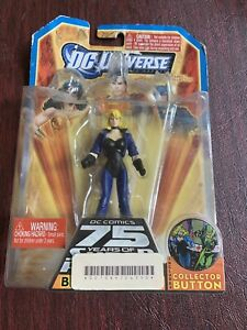 2009 Dc Comics Mattel Black Canary Figure Woth Collectable Pin New