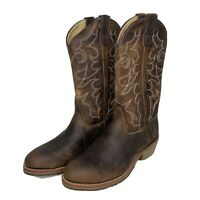Double-H Boots Men's Gel ICE Steel Toe Western Boots MC7 Brown DH1592 Size 9.5EE