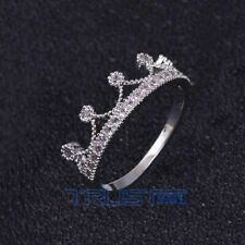 Fashion Copper  Zircon Women Crystal Gold Silver Plated Ring Jewelry 6-10