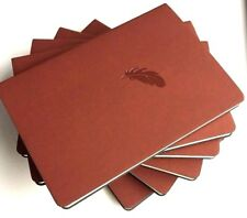 IDNY Leather Journal Leather Writing Notebook Soft Leather Cover Journal Brown